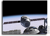 Solar Arrays Installed on SpaceX Dragon Spacecraft