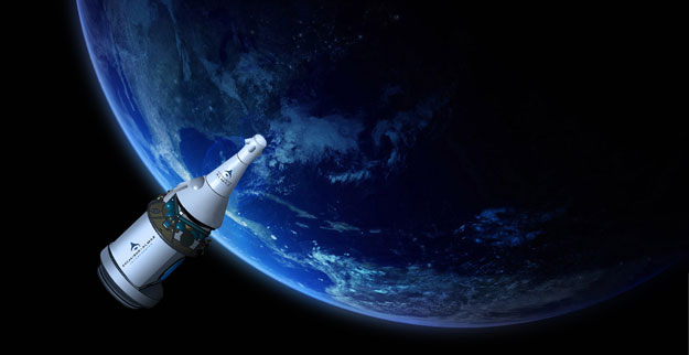 Artist concept of Excalibur Almaz spacecraft