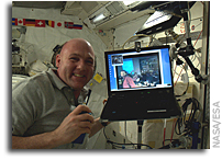Image: Video Chat Between the Space Station and Concordia Base in Antarctica