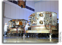 Photo: Integration and Testing of Cygnus Service Modules