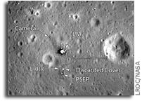 NASA LRO Image: A New View of the Apollo 11 Landing Site