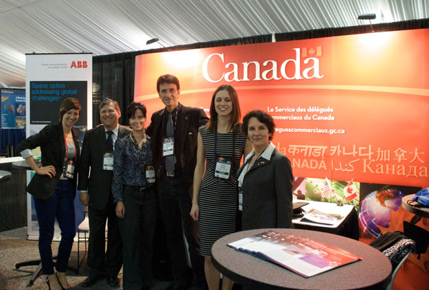 Canadian booth at the National Space Symposium
