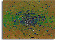 NASA MESSENGER Image: Permanent Shadows at Mercury's South Pole