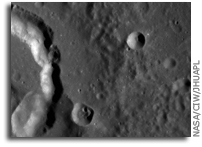 NASA MESSENGER Image of Mercury: Crater Picasso