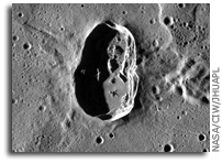 NASA MESSENGER Image of Mercury: Hovnatanian Crater