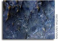 NASA MRO Image of Mars: Mineral Veins