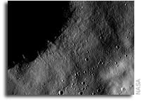 NASA Dawn Image on Vesta: Chains and Clusters of Secondary Craters