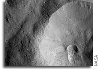 NASA Dawn Image of Asteroid Vesta: Double crater