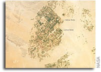 Photo: Agricultural Areas in Northern Saudi Arabia As Seen From Space