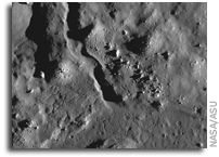 NASA LRO Image of the Moon: Crater Petavius B: Impact Melt Channel