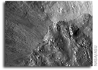 NASA LRO Image of the Moon: Crater Moltke: Impact Melt Boundary