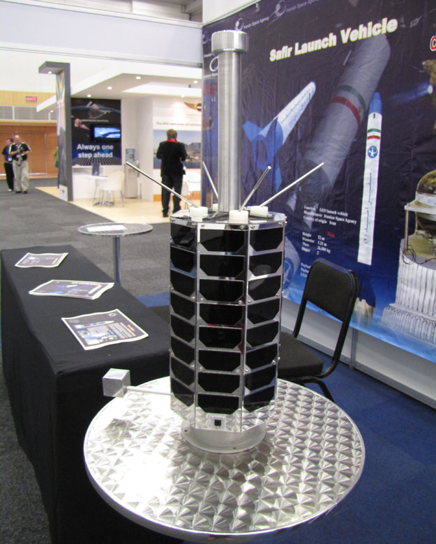 Iran Radsat breadboard model at exhibition IAC2011 Cape Town