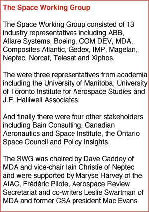 Members of the Aerospace Review Space Working Group