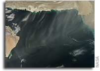Image: Dust over the Arabian Sea