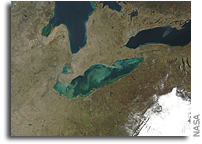 Image: Sediment in Lake Erie As Seen From Space