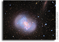Subaru Telescope Captures Images of 'Stealth Merger' of Dwarf Galaxies