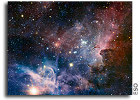 The Most Detailed Infrared Image of the Carina Nebula Taken by VLT