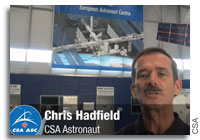 Chris Hadfield Trains at the European Astronaut Centre