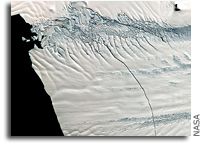 Image: A Huge Crack in Antarctica's Pine Island Glacier