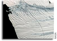 Image: A Huge Crack in Antarctica's Pine Island Glacier