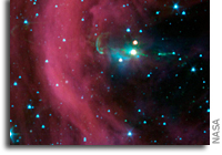Image: Spitzer Telescope Finds Hidden Jet at Herbig-Haro 34