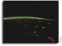 Northern Lights over Canada and the United States