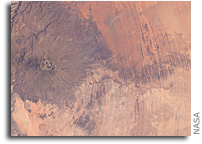 Photo: Emi Koussi Volcano and Aorounga Impact Crater, Chad As Seen From Space