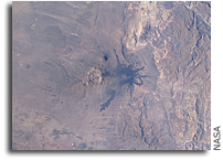 Photo: Payun Matru Volcanic Field in Argentina As Seen From Orbit