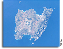 Photo: The Island of Majorca, Spain in the Balearic Islands AS Seen From Space