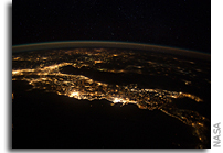 Image: Italy Seen From Space at Night