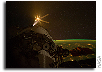 Photo: Edoardo Amaldi ATV-3 approaches the International Space Station