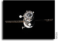 Close-up Photos: Progress 46 Cargo Droid Departs From the Space Station