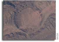 Photo: Ouarkziz Impact Crater in Algeria