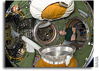 Photo: Inside The Russian Space Station Segment Transfer Compartment