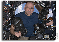 Photo: Don Pettit and His Large Space Camera Collection
