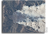 Photo: Fires in the Wyoming Range As Seen From Space
