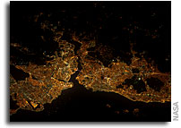 Image: Istanbul, Turkey As Seen at Night From Orbit