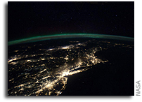 Photo: Night Time Panorama of the East Coast As Seen From Space