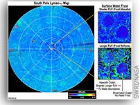 NASA Lunar Reconnaissance Orbiter LAMP Reveals Lunar Surface Features