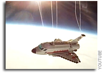 Video: Lego Space Shuttle Flies To The Edge of Space