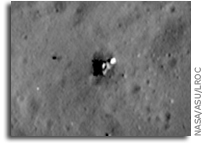 NASA LRO Image: Luna 23's Rough Landing On The Moon