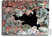 Photo: Volcano Laguna del Maule As Seen From Space