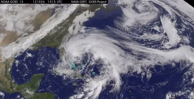 hurricane sandy from space station - photo #23