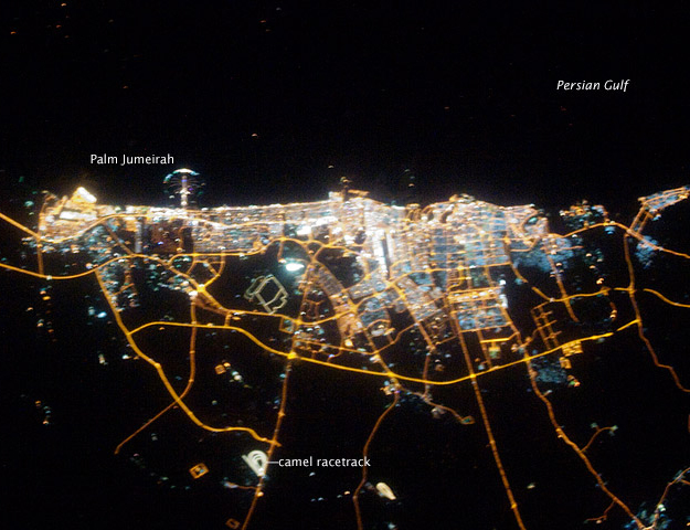 Images: City of Dubai, United Arab Emirates at Night As Seen From