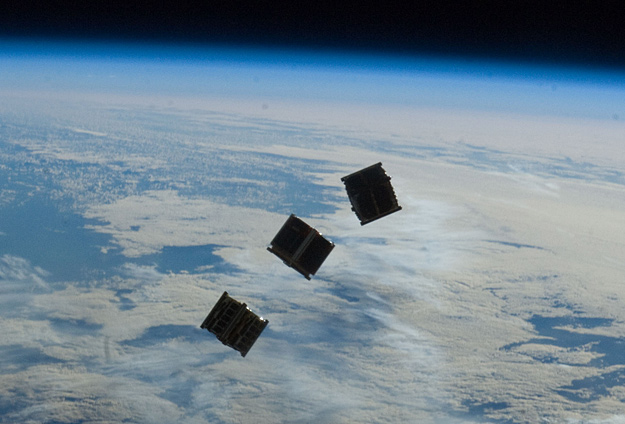 A common scene in CubeSat concept art