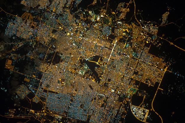 Photo: Riyadh, Saudi Arabia, As Seen at Night From Orbit