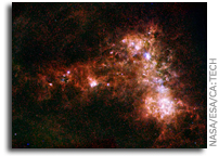 Herschel and Spitzer See Nearby Galaxies' Stardust