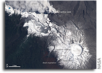 Photo: Chile's Puyehue-Cordon Caulle Volcano As Seen From Space