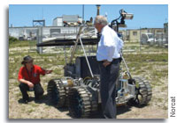 RESOLVE rover short for Regolith and Environment Science and Oxygen and Lunar Volatiles Extraction