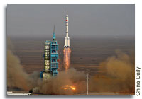 China's Shenzhou 9 Launches into History
